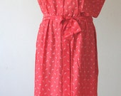 CORAL red long dress - Maxi dress, Sundress, Kaftan, Caftan dress, Lounge wear, Tea dress, Christmas gift for her