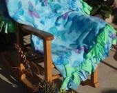 Blue Butterfly Fleece Blanket for Baby or Toddler