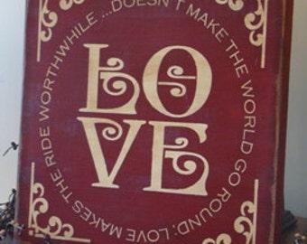 Decorative LOVE sign