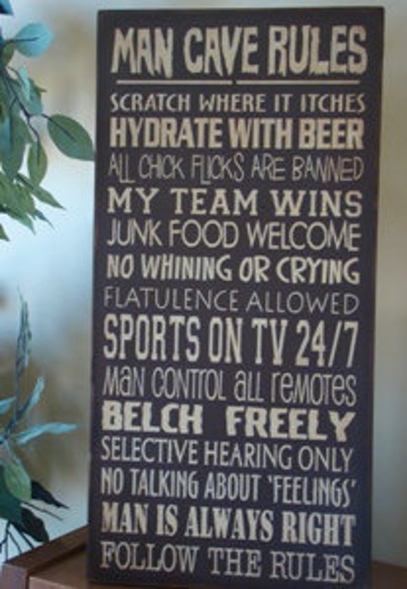 Man Cave Subway/Typography Word Art Sign