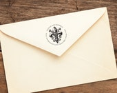 Colonial Fleur - Personalized Address Stamp - FREE SHIPPING