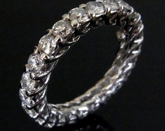 18K Gold 2.9ct Diamonds Eternity Ring or Wedding Band, available in White, Pink or Yellow Gold Layaway Available