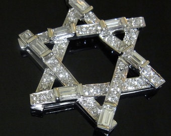 2.5ct Diamonds 14k White Yellow or Pink Gold Contemporary Necklace Pendant Star of David Layaway Available