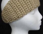 Bone Beige crocheted tapered headband