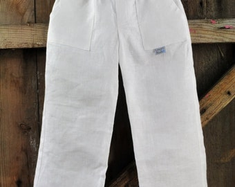Boys pants, pure linen boy trousers, natura, white, off white, brown color, summer outfit for any occasion