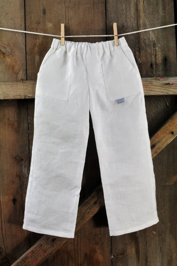 Items similar to linen boy pants - summer boy pants - linen outfit ...
