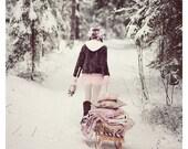 Winter fairy tale print
