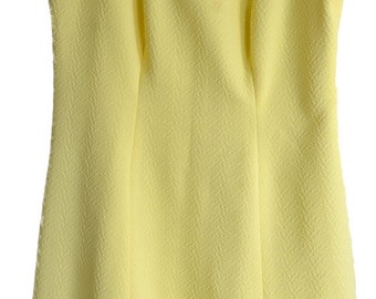 Vintage Yellow Shift Dress - Traceable Shipping Now Included