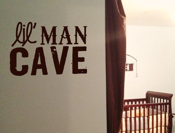Little Man Cave Wall Art : Lil man cave vinyl wall art decal for little boy s