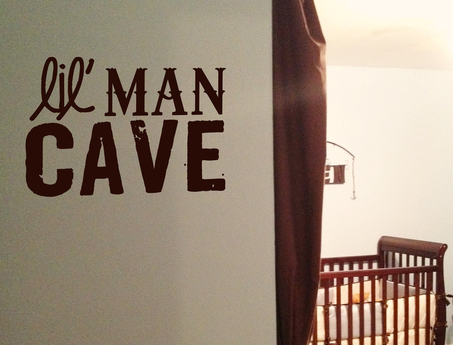 Man Cave Vinyl Wall Art : Lil man cave vinyl wall art decal for little by