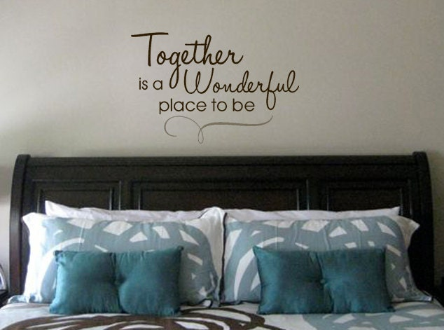Together Is A Wonderful Place To Be Vinyl Wall Art