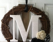 Custom Monogram Wreath
