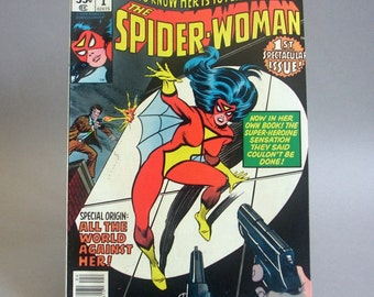 Vintage Comic Book The Spider Woman Vol 1 Issue 1, Special Origin All the World Against Her, April 1978, Marvel Comics