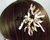 Korker bow Brown, cream, and tan korker hair bow