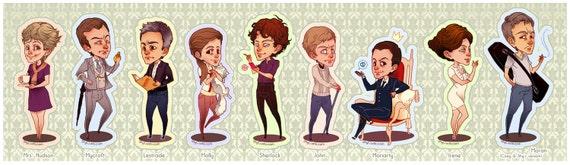 Shy: Sherlock Stickers