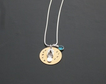 Personalized Beach Girl Charm Necklace