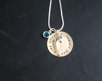 Personalized Dolphin Charm Necklace