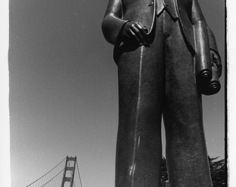 Mr. Golden Gate, Black and white darkroom print