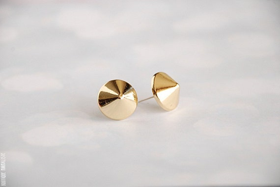 Gold Plated Spike Earring Studs