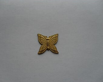 6 Vintage Brass Butterfly  Stamping   .....   B - 21
