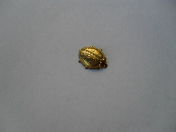 2 Vintage Brass Ladybug Stampings