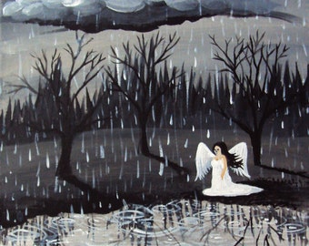 As the World Weeps Painting 8x10