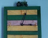 John Deere Pallet Clock (Free U.S. Shipping)