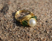 The Hunger Games District 11 Inspired- Gold Wire Wrapped Ring