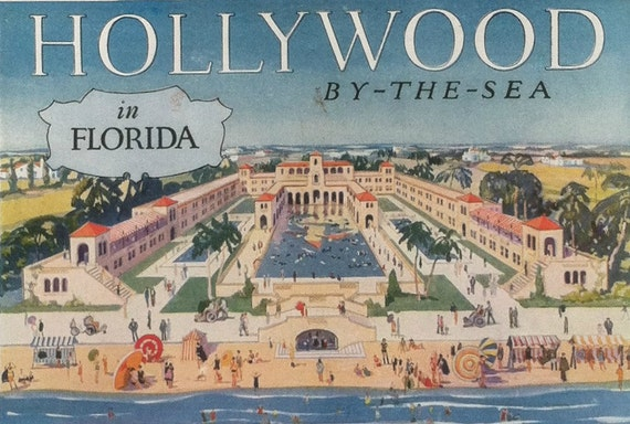 Vintage travel ad - Hollywood by the Sea in Florida - 1920s
