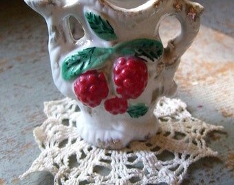 Vintage Toothpick Holder, Vase, Tea Pot , Raspberries, Collectibles, Japan