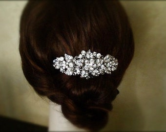 Vintage Inspired crystal Hair Comb, bridal hair comb, wedding hair accessories, bridal hair, rhinestone comb - Made to order