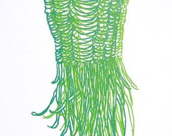 Original Silkscreen, handpulled, green, organic
