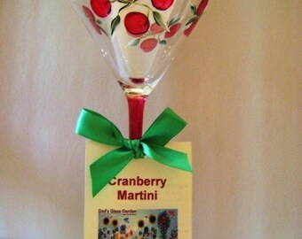 Cranberry Martini Glass