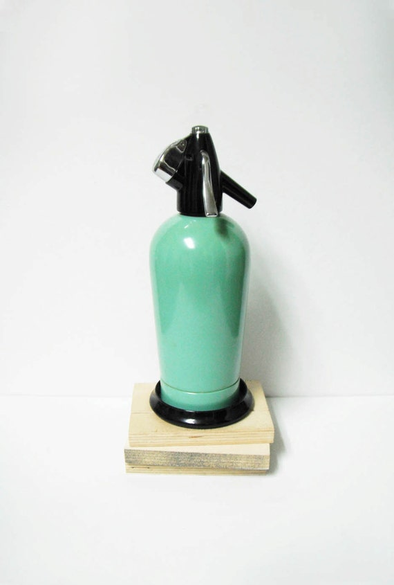 Vintage Seafoam Sparklet Seltzer Bottle Barware Decor