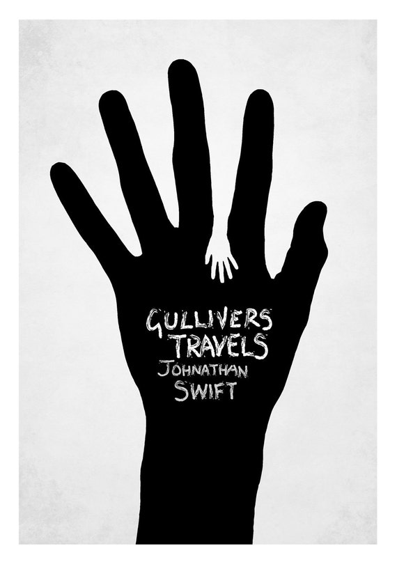 Gulliver S Travels Book Cover Drawing : Items similar to gulliver s travels book cover on etsy