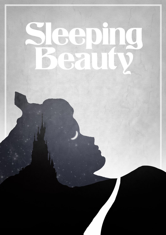 disneys sleeping beauty minimalist poster