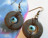 Zombie eyeball earrings