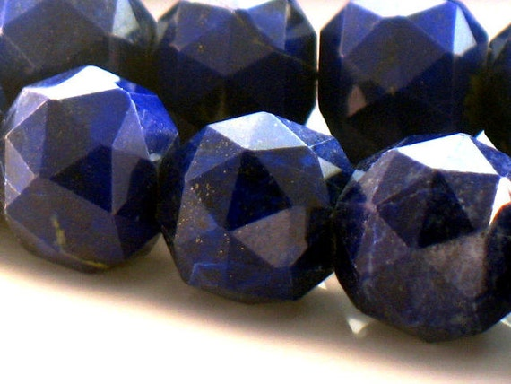 Violet Blue Lapis Lazuli Faceted Round Beads Rare AAA Plus Designer Quality 10 inch strand 9 to 12mm For Handmade Jewelry Design