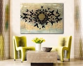 """20x28"""" FREE SHIPPING Original Modern Painting on Canvas (Ready to Hang) - Butterfly Dream"""
