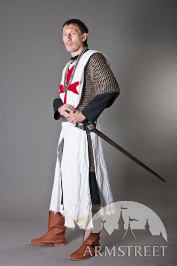 Knight Crusader Templar Medieval Tabard with Cross; sca cyclas; sca tabard; medieval tabard