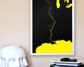 The Might of Nature: The Mississippi River - 11x17 Minimalist Art Geographical Print