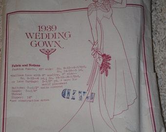 Past Patterns 304 - 1939 Reproduction Wedding dress