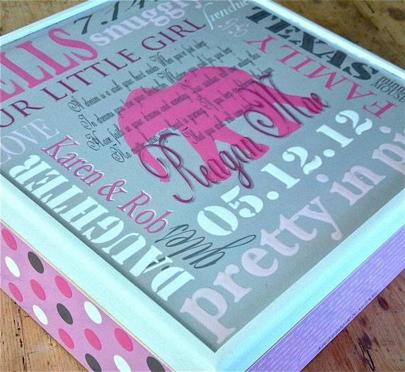 Custom Order for Nadine//  6x6x6 Baby Keepsakes Box