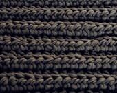 KORSI äimänkäki square chunky crochet rug