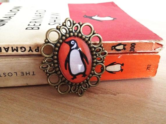 Penguin Classics Books Cameo Brooch Literary Gift