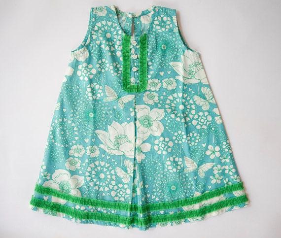 Summer sale 30%,Girl's Sundress Vinatge style, Toddler dress,Blue dress