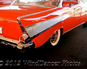 1957 Chevy Fine Art Photo -  Classic Car Photo - '57 Chevy - Retro - Americana - Home Decor - Office Decor - Giftsfor Men - Reds - Wall Art