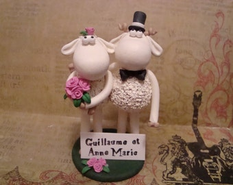 Customized Sheep Wedding Cake Topper