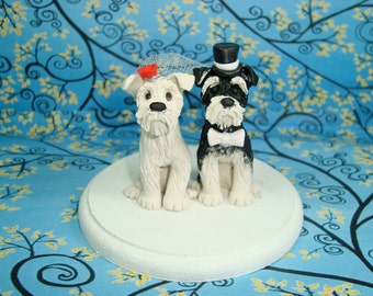 Custom Dog Wedding Cake Topper
