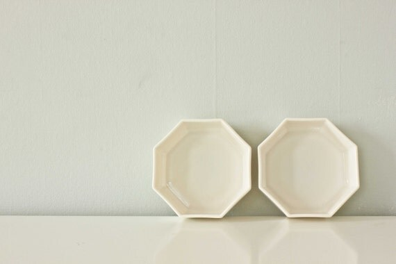 French White Milk Glass Bowl, set of 2